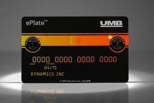 """Interaktive Kreditkarte: die """"ePlate"""" der US-Bank UMB (Foto: umb.com)"""